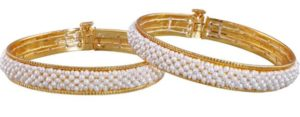 Shop Pearl Bangles online at Krishnapearls