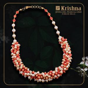 Corals & South sea Pearls Necklace at Krishnapearls